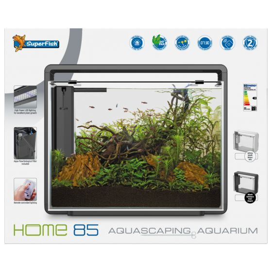 Superfish home 80 aquarium zwart