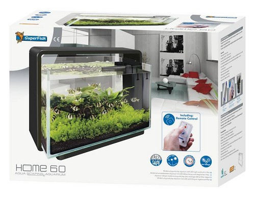 Superfish home 60 aquarium zwart