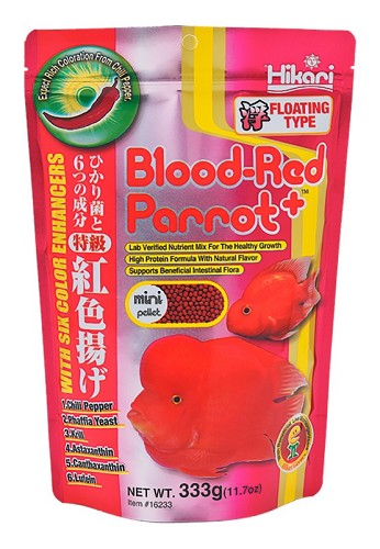Hikari blood-red parrot plus medium, 333 gram