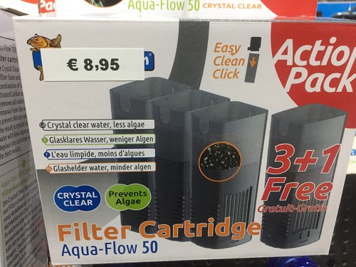 superfish aquaflow 50 crystal cartridge 3+1 promo