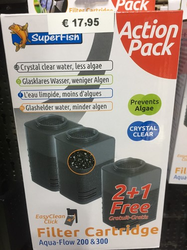 superfish aquaflow 200/300 crystal cartridge 2+1