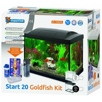 superfish start 20 goldfish kit zwart/wit