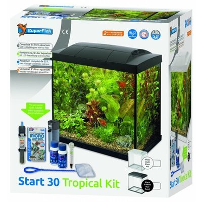 superfish start 30 tropical kit zwart/wit