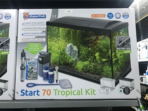 aqua start 70 tropical kit zwart/wit