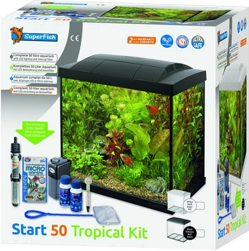 superfish start 50 tropical kit zwart/wit
