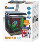 Superfish betta 8 aquarium zwart