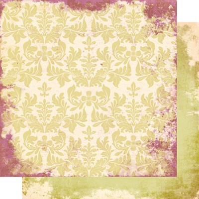 Scrappapier Scrap within Reach - Afternoon Tea Collection - Green Peony AT512