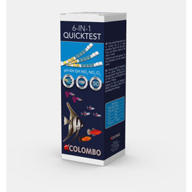 Colombo quicktest 6 in 1 50 strips aqua