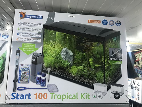 aqua start 100 tropical kit wit/zwart